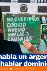 Donde habla un argentino, Han de hablar dominicanos
